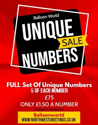 Unique Numbers - Bulk Buy